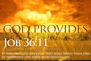 ... their days in prosperity, and their years in pleasures. Job 36 : 11