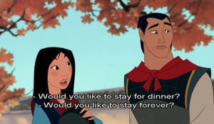disney, love, movie quote, mulan