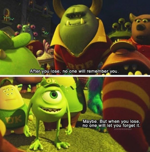 Monsters University, always makes me think of marching band with this ...