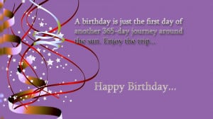 Happy birthday quotes on photo