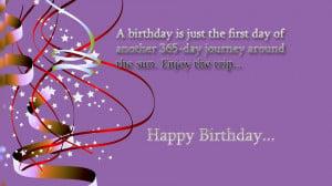 Happy birthday quotes on photo