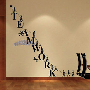 Teamwork-Letters-Wall-Sticker-Removable-Decal-Vinyl-Novelty-Office ...
