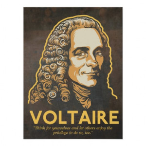 Freedom Of Speech Quotes Voltaire Voltaire quote print
