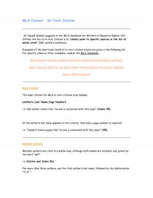 docstoc.comMLA Format In-Text Citation,