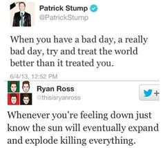 ... Fall Out Boy and Ryan Ross from Panic! At The Disco. Yay for Patrick