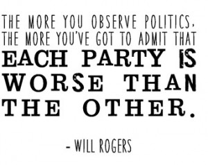 funny political quote typography pr int will rogers quote republicans ...