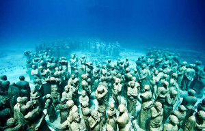 The Underwater Sculpture Gallery in Grenada, West Indies is a project ...