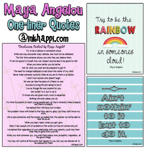 One-liner quotes and inspiration from Maya Angelo as well as free ...