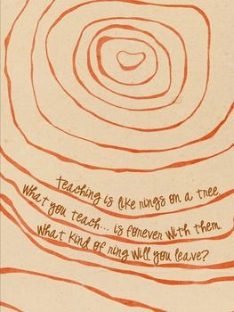 Teacher Tree Rings Poster (Super Cute Quote)