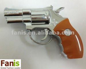 Creative Gun Shaped Refillable Windproof Lighter (Brown)