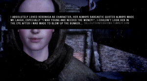absolutely loved Veronica as a character, her always sarcastic quotes ...
