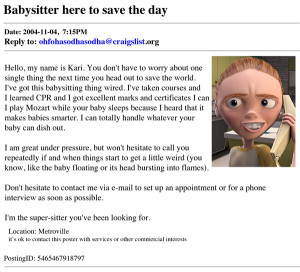 Babysitting Gigs NYC On Craigslist