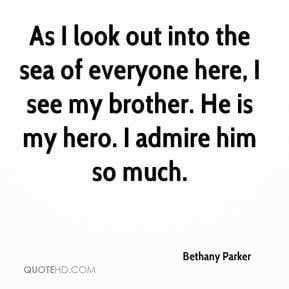 Bethany Parker - As I look out into the sea of everyone here, I see my ...