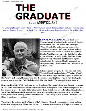 The Graduate Download As PDF. 25th Anniversary Quotes For Business ...