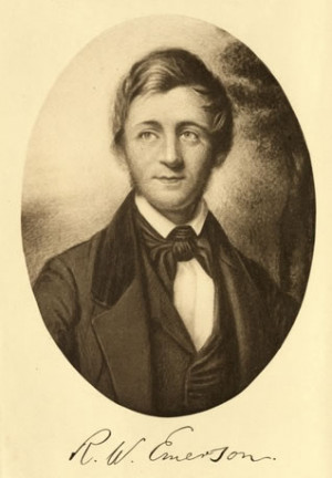 Ralph Waldo Emerson (1803-1882) , my son's 3rd great grandfather.