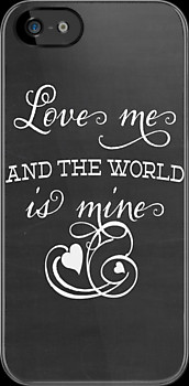 World is Mine - Chalkboard Typography Quote - Inspirational Love Quote ...