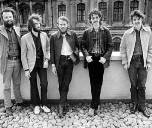 The Band in the early '70s. From left to right: Garth Hudson, Richard ...