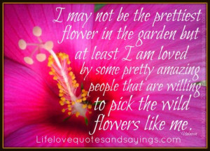 may not be the prettiest flower in the garden but at least I am ...