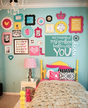 inspiring quotes for girls room art wall