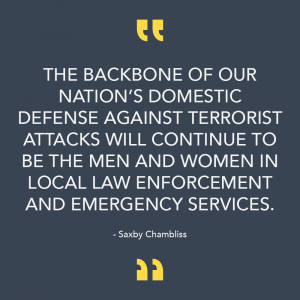 Saxby Chambliss Quote on Law Enforcement