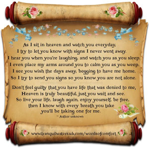 ... loved ones loss of a loved one quotes and poems poems bereavement