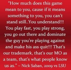 Nick Saban quote More