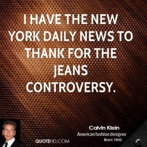 have the New York Daily News to thank for the jeans controversy.