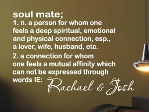 Vinyl Wall Words Quotes Soul Mate Definition