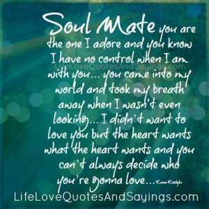 My Soulmate Quotes Soul mate you are the one i