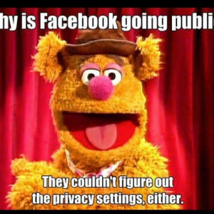 Fozzie Bear on Facebook