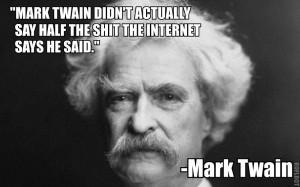 Mark Twain…