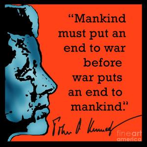 Jfk Anti War Quote Digital Art