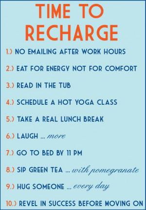 Chiropractor, Austin | Take Time to Recharge!