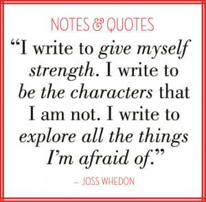 Quote by Joss Whedon; Notes & Quotes Image Series on EuropeanPaper.com ...
