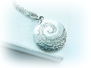 Surf Quotes About Life Tiny surfing charm necklace