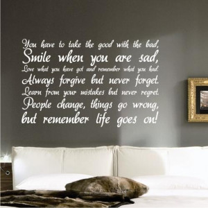 Details about LIFE Inspirational WALL STICKER QUOTE ART DECAL QUOTE ...