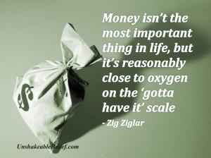 Inspirational-Life-Quotes - Money - Ziglar