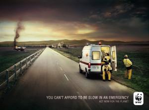 WWF Ambulance print advertisement