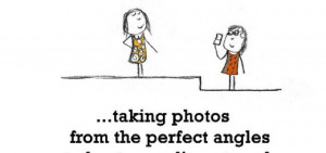 Friendship is, taking photos from the perfect angles.