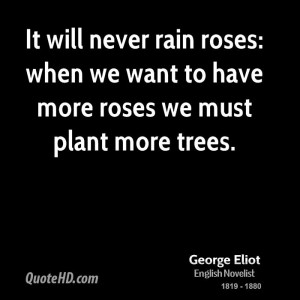 It will never rain roses: when we want to have more roses we must ...