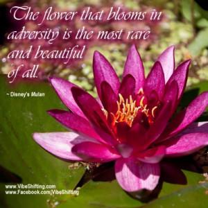 ... Disney's Mulan http://www.facebook.com/VibeShifting #quotes #adversity