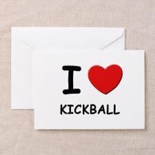 Love Kickball Greeting Cards For