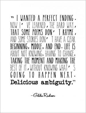 Gilda Radner Quotes Delicious Ambiguity Delicious ambiguity great