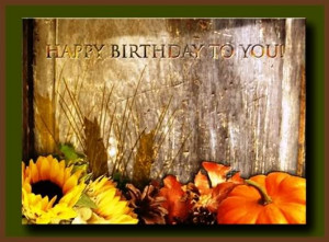 fall happy birthday