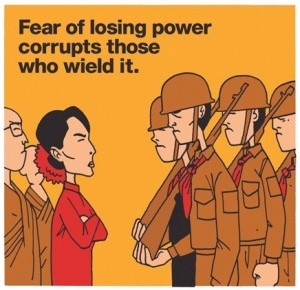 Freedom from Fear quote from Aung San Suu Kyi