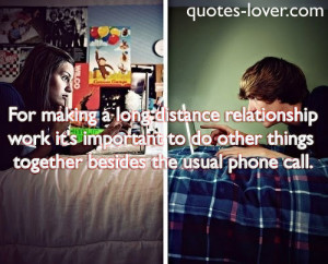 quotes about long distance relationships working out