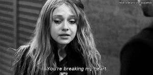 Black and White sad pain alone crying dakota fanning push movie text ...