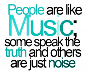 "Inspirational Music Quote 7: ""People are like music; some speak the ..."