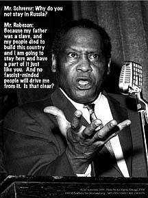 During the 1940s, Robeson continued to perform and to speak out ...