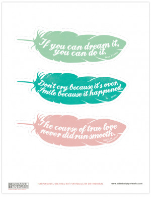 Free Printable Bookmarks Quotes